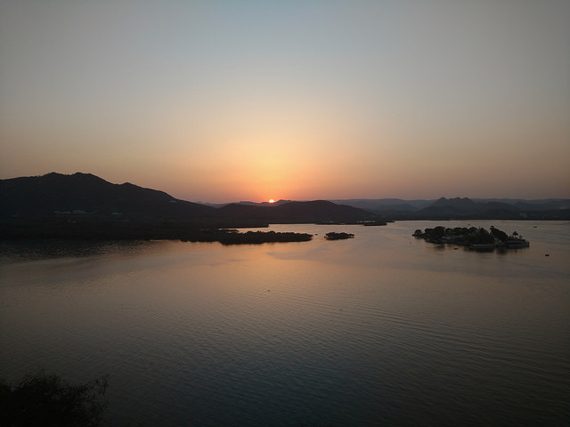 Sunset View from Deen Dayal Updahyay Park