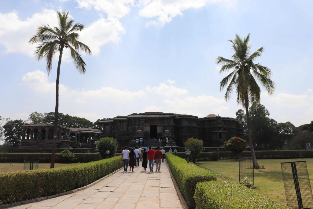 Front View of Halebidu Temple