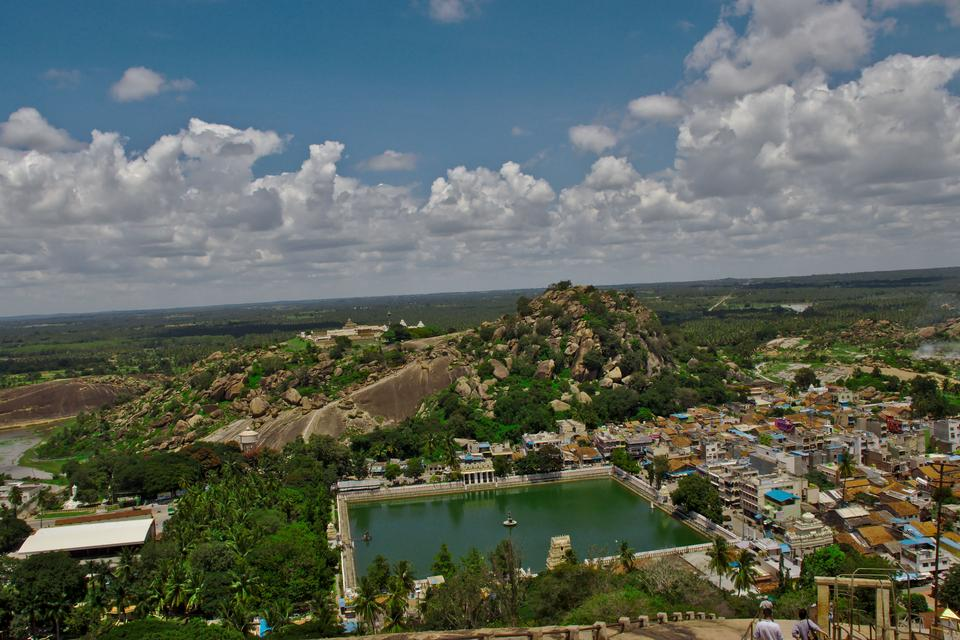 White pond in Shravanabelagola